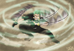 Roronoa Zoro ~ Fighting for a dream by hedgehog3000