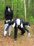 slenderman and slenderwoman by allanimerules1