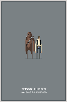 Han and Chewie by drawsgood