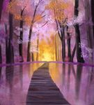 Pink Fantasy Forest by Orbes