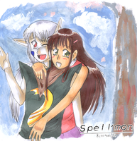 Spell'mon: Rei + Sarah by Mole-Chan