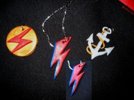 David Bowie inspired necklaces by ThreeRingCinema