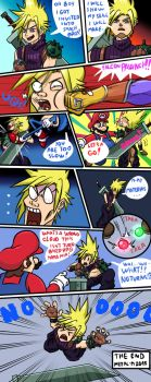 Cloud got an Invitation to Smash Bros. by Metal-M