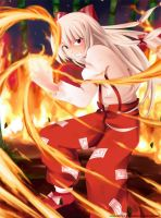 Imperishable Flame Mokou by MMrailgun