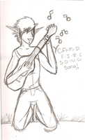 Campfire song song -- Sketch 1 by Kaito-Fletcher