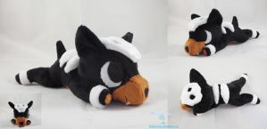 Houndour Laying Plush Poketime Style by dolphinwing