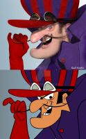 Dick Dastardly real cartoon by Nestaman