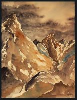 Mountains and approaching Storm by GwilymG