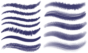 PS brushes set 3 - dark textured brushes by JulianS-DerBrennende