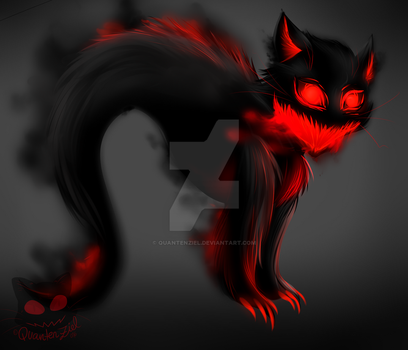 Hissing Ghostcat by QuantenZiel