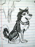 Steele Sketch...while in class XD by Aleu45