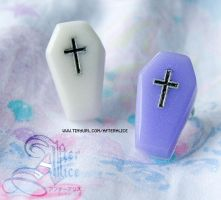 Coffin Rings Ivory + Lavender by GenIshihara