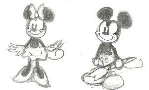 Mick and Minnie by ZanyArtist