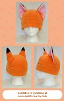 Orange Kitsune Fox Hat by cutekick