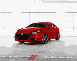 2013 Dodge Dart Red by CitizenXCreation