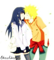 NaruHina kiss by eterneldarkness