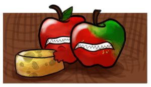 Apples Ate The Cheese! by Raspuss