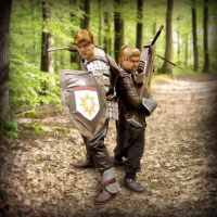 Alistair and Varric Cosplay by mrbob0822