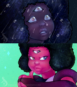 Garnet's expressions by Analostan