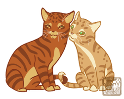 Firestar and Sandy purry bouncy WIP by ashkey