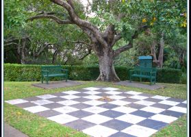 Human Sized Chessboard by Mind-Matter