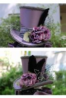 Lavender Wonky Tophat by ImperialFiddlesticks
