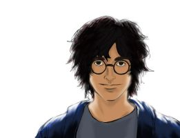 Harry coloured by ThanataPhaemo