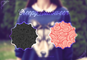 Creepy Halloween {Patterns} by Julieta7599