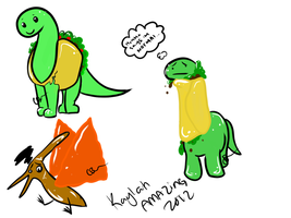 Food Dinos by ForTheLoveOfWalrus