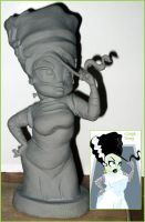 Bride of Frankenstine Maquette by ShapeStrong