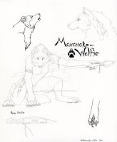 .:Mononoke-Wolfie Character Design Sheet:. by Timber-Wolf-Spirit