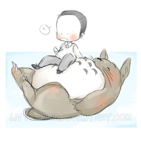 Totoro is in the air by LittleNinni