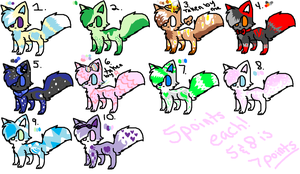 Adoptables 6 {OPEN} by snickIett