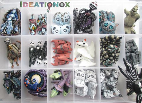 Tim Burton Inspired Charm Collection (unfinished) by Ideationox