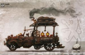 Steampunk Peugeot pickup by WhiteLeyth