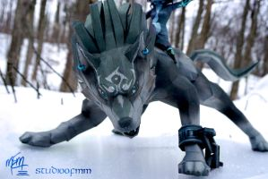 Wolf Link Papercraft Detail by studioofmm