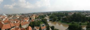 Gyor from the Bishop's tower by Bubuka812