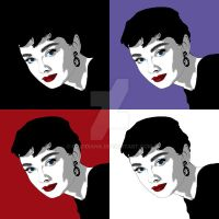 Audrey Hepburn - Pop-Art 2 by davidiana
