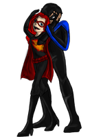 Nightwing And Dark flame by Maygirl96