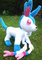 Custom Shiny Sylveon Plush FOR SALE by MizukiiMoon
