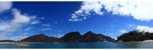 Wine Glass Bay Panorama by K-Tak