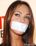 Gagged megan fox by SILVERSQUARE