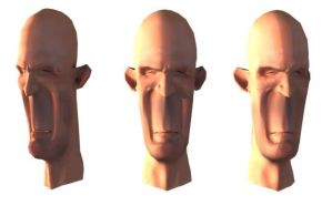 Unfinished Low Poly Head by hammn