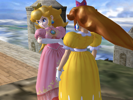 SSBM pic #4: Whatcha looking at? by PeachKirbyCutie