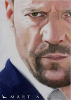 Jason Statham colour portrait by Martin--Art