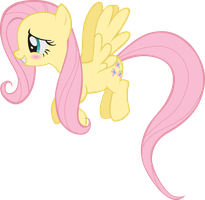 Fluttershy - Smiling Shyly Vector by Cubonator