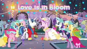 Love is in Bloom (Canterlot Wedding) Wallpaper by AceofPonies