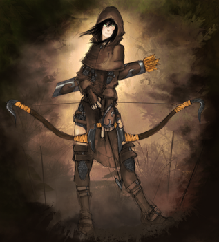 Concept Female Archer by CG-Sphinx