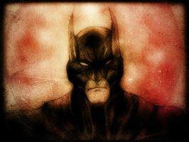 Batman against the morning sun by manojart