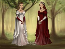 Snow White and Red Rose - Human by LaSerenity